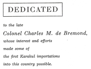 Dedication to Charles de Bremond